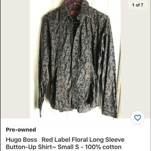 Hugo Boss Red Label Floral Button-Up Shirt small